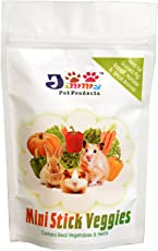 Jimmy- Mini Stick Veggies -200 Gm Pack - Treat for Guinea Pig, Rabbit, Hamster & Small Animals - Food Product