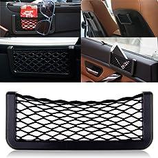 MOTOWAY Universal Car Net Holder Phone Pocket Organizer String Bag Mobile Stand for TATA Indigo