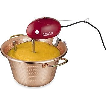 Macom Just Kitchen 851 Paiolo Polentino con miscelatore elettrico, Rame, Diametro 31 cm
