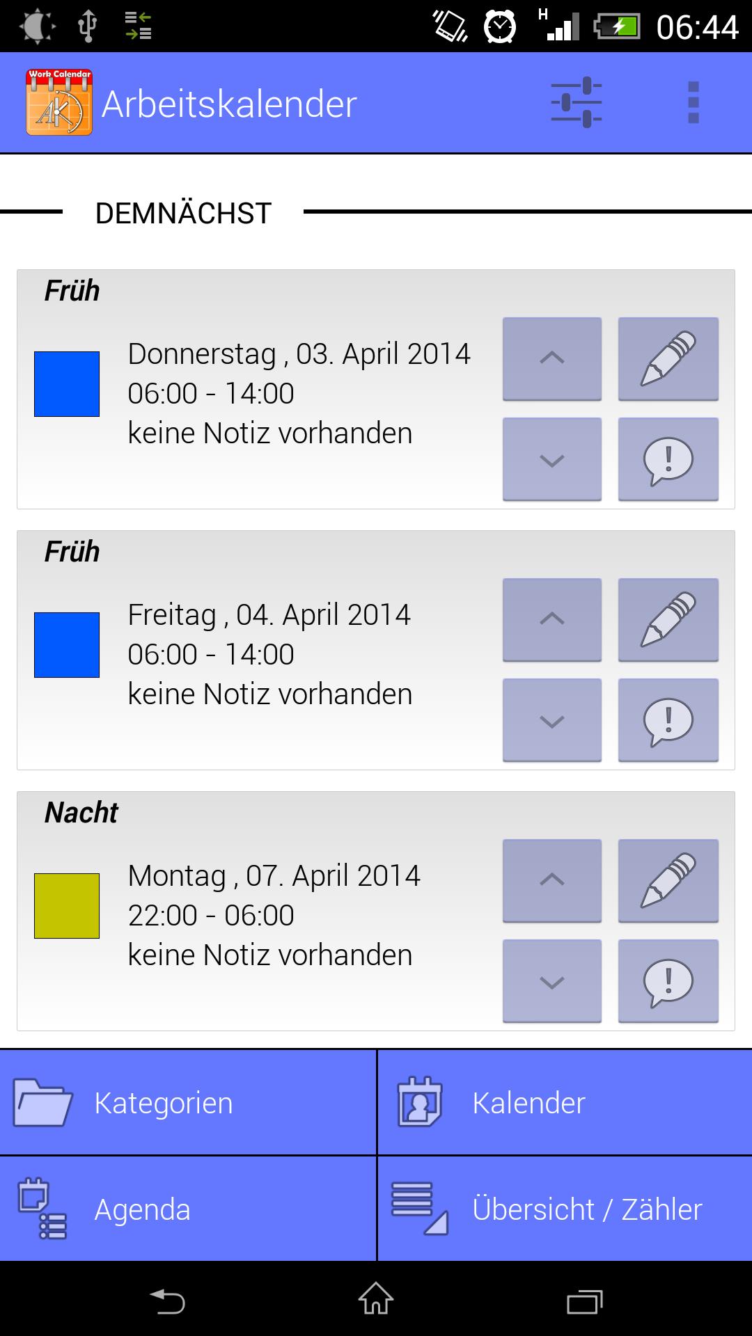 Arbeitskalender: Amazon.de: Apps für Android
