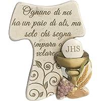 Regalami.Shop, Croce Tau, Trasporto Gratuito er ordini Superiori a 29 Euro, Croce in Pietra con bassorilievo colorato cm…