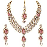 Shining Diva Latest Design 18k Gold Plated Kundan Wedding Party Wear Stylish Necklace Jewellery Set for Women