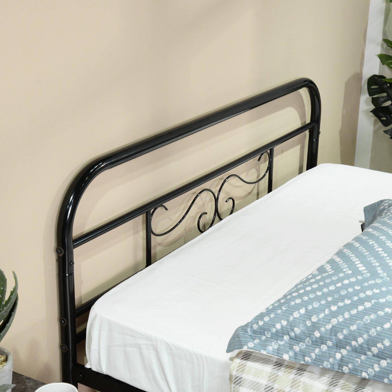 EGGREE Gästebett Einzelbett Metallbett Metall Rahmen Bett Jugendbett ...