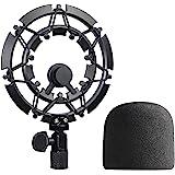 Blue Yeti en Yeti Pro microfoon ShockMount met popbescherming, legering microfoonspin vermindert trillingen en verbetert de o