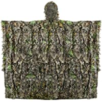 Outdoor Adults 3D Leaves Camouflage Poncho Camo Cape Cloak Stealth Ghillie Suit Military CS Woodland Hunting Clothing…