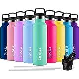 Grsta Botella Agua Acero Inoxidable - Termo para Agua Fria 350ml/Azul Verde Botella Termica sin BPA Aislamiento de Vacío de D