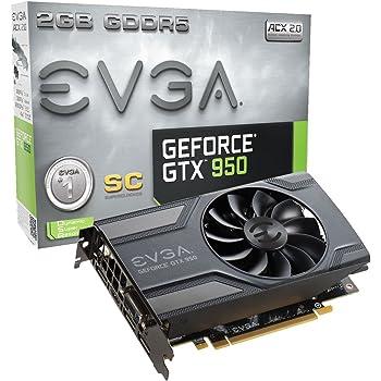 EVGA 02G-P4-2951-KR Carte graphique Nvidia GTX950 1152 MHz 2048 Mo PCI Express Noir
