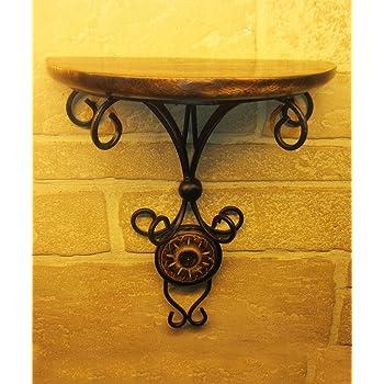Pindia Beautiful Wood and Wrought Iron Fancy Wall Bracket