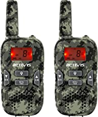Retevis RT33 Walkie-Talkie 8 Canali 0.5W PMR446MHz VOX CTCSS/DCS per Viaggi o Campeggi(2 pezzi Camouflage)