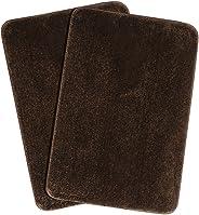 Saral Home Microfiber Anti-Skid Bath Mat (40x60 cm, Brown) - Pack of 2