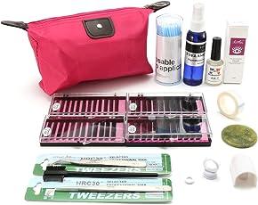 15 in 1 Individual False Eyelash Extension Kit Grafting Strip Glue Mascara Wands Tweezers Makeup Cleaner