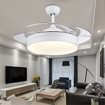 mmynl unsichtbare lfter einfache deckenventilator mit lampe fr wohnzimmer esszimmer slim lfter hngeleuchten schlafzimmer moderne mode fan lichter - Einziehbarer Deckenventilator