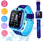 Smart Watch Phone for Kids, Waterproof Smartwatches with Tracker HD Touch Screen for Kids Games SOS Alarm Clock Camera Digit