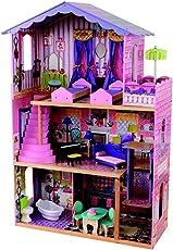 KidKraft 65082 My Dream Mansion Puppenhaus aus Holz mit Zubehör für 30cm große Puppen mit 12 Accessoires und 3 Spielebenen