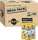 Pedigree DentaStix Daily Oral Care Zahnpflegesnack für Hunde – Hundeleckerli mit Huhn- & Rindgeschmack für jeden Tag, verschiedene Größen