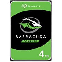 Seagate Barracuda, interne Festplatte 4 TB HDD, 3.5 Zoll, 5400 U/Min, 256 MB Cache, SATA 6 Gb/s, silber, Modellnr…