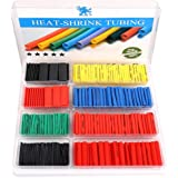 H&S 532pcs Heat Shrink Tubing Cable Sleeve Heat Shrink Wrap Tube Sleeving Electric Insulation Protection Kit