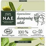 N.A.E. - Shampooing Solide Certifié Bio - Réparation Cheveux Cheveux Secs - Extraits d'Olive Bio et de Basilic Bio - Formule