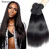 vierge de Malaisie Cheveux raides 4trames 100% brut non transformés Extensions de cheveux humains à double Trame soyeux droites Cheveux humains tissage Regroupe Naturel Noir