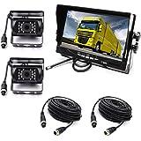 """4P 2 ×18LEDs IR Cámara de visión trasera con visión nocturna a prueba de agua con 10M cable+12V-24V 7 """"TFT LCD HD Monitor de"""