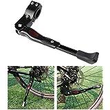 Foxnovo Seitenständer Fahrrad Ständer Hinterbauständer Universal Fahrradständer Aluminiun Gummi (Schwarz)