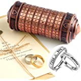 TUPARKA 5Pcs Da Vinci Code Mini Cryptex Valentine's Day Regalos de cumpleaños románticos creativos interesantes para Ella Col