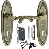 MORTICE HANDLE, MORTICE LOCK , DOOR LOCK , LOCK Atom WIH 412 Brass Antique Finish Mortise Lock Set