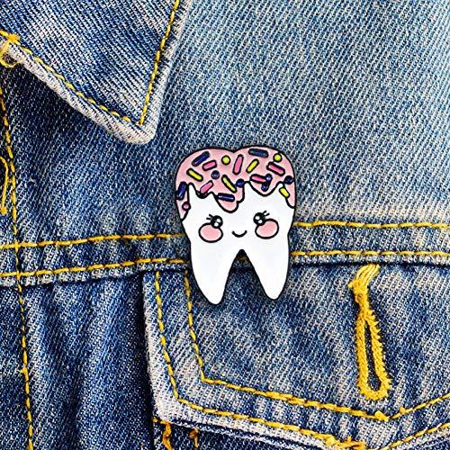 WYLBQM Broche Pink Kawaii Wisdom Tooth Girl Donuts