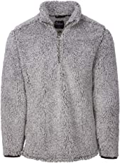 Oxford America Owen 1/4 Zip Heather Sherpa Pullover Black, Large