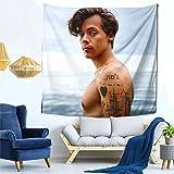 Harry Styles Tapiz PóSter Tapiz Estrella Tapiz Boutique Art Tapiz Hogar Sala De Estar Dormitorio Dormitorio DecoracióN 150x15
