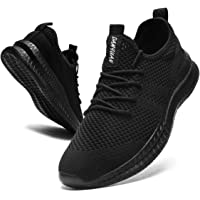 CAIQDM Mens Trainers Running Shoes Athletic Walking Fitness Tennis Sneakers Gym Workout Casual Sport Jogging Shoes