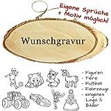 Türschild mit Gravur - Name + Spruch + Motiv möglich - aus Holz mit Kordel, Willkommensschild, Familientürschild, personalisiertes Holzschild als Dekoration oder Geschenkidee