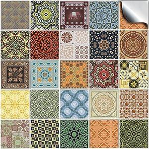 24 stück Fliesenaufkleber für Küche und Bad (Tile Style Decals 24 NTP06 6
