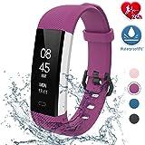 fitpolo Fitness Uhr Wasserdicht Fit Uhr mit Pulsmesser Aktivitäts-Tracker Fitness Armband, Schrittzähler Uhr, Smart Watch für Kinder Herren Damen