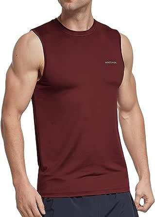 Ogeenier Men's Workout Sleeveless T-Shirt Quick Dry Gym Running Vest Top Muscle Tank Top Shirt