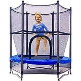 Jumptastic Trampoline voor kinderen 55'' Mini Trampoline met netto W-vormige stalen frame voor kinderen peuters baby