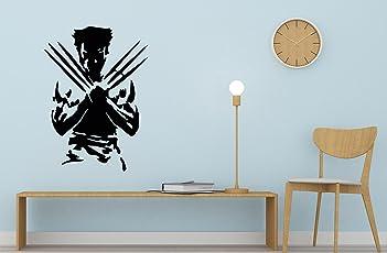 Paper Plane Design Wolverine Kids Wall Stickers-Standard