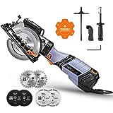 Handkreissäge, TACKLIFE 750w 3500U Mini Kreissäge mit 6 Variable Geschwindigkeiten, Schnitttiefe: 90 °: 48mm / 45 °: 35…