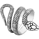 PikaLF Snake Ring for Men, Gothic Snake Wrap Ring Cocktail Party Biker Ring for Women, Vintage Cool Snake Amulet Ring…