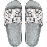 Adiver Women's Girls Slides Slippers Printed PU Fashion Flip Flops