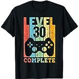 30 Años Cumpleaños Hombre Mujer Regalo Divertido Level 30 Camiseta