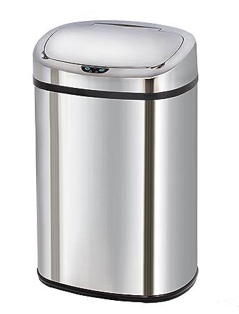 Interessant Kitchen Move Küchen-Abfalleimer mit Sensor, Edelstahl  CJ97