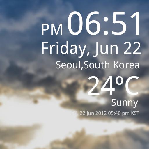 Weather Clock Live