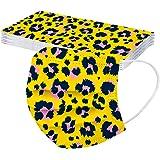 YpingLonk 10/30/50 pc Navidad desechable Adulto Protector Moda Linda Navidad Impreso 3Ply Oreja Loop Bufanda para Mujeres Hom
