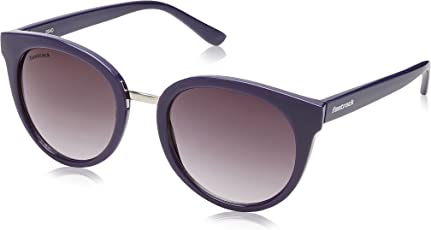 Fastrack UV Protected Oval Women's Sunglasses - (C065BK2F 53 Smoke (Grey/Black) Color)