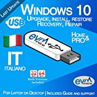 EVM ™ - Windows 10 Pro & Home 32&64 bit Italiano