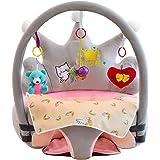 Support Coussin de Bébé, sans Coton, Couverture de Canapé Doux, avec Jeu de Tige, Jeu de Jouets et Tapis Protection pour Bébé