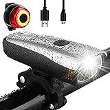 Antimi Set di luci per bici a LED con 2 modalità di illuminazione, omologazione StVZO, luce anteriore e posteriore, pioggia e