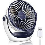 OCOOPA Ventilateur de table avec ventilateur de bureau USB avec débit d'air puissant et fonctionnement silencieux, vitesse du