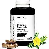 Tribulus Terrestris 2250 mg   180 cápsulas veganas   100% Natural con 90% Saponinas   Aumenta la testosterona, la masa muscul
